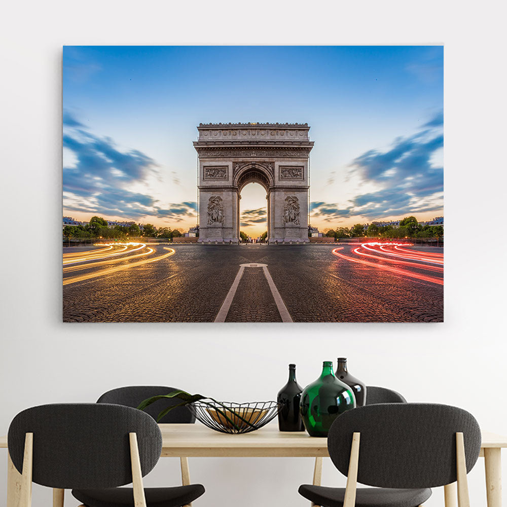 Paris Champs Elysees Canvas Wall Art