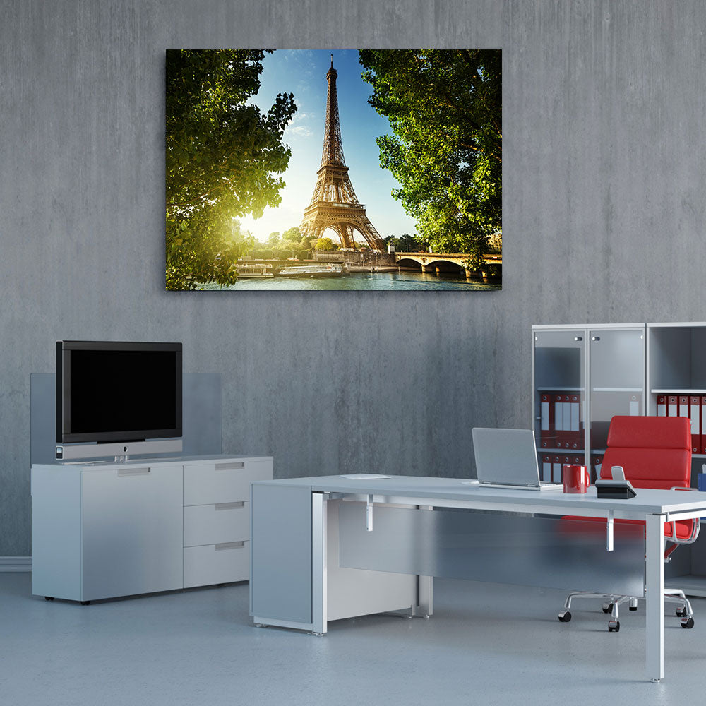 Eiffel Tower Paris Canvas Wall Art v2