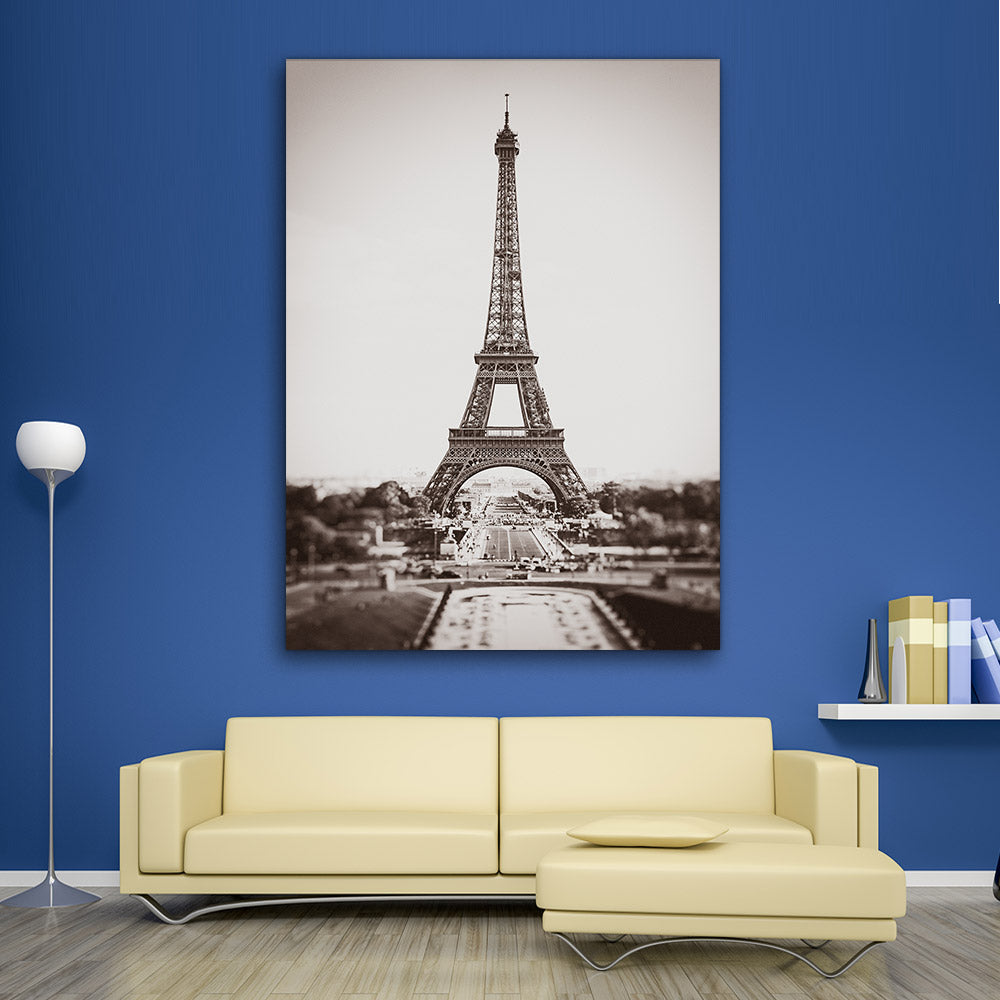Eiffel Tower Paris Canvas Wall Art v3