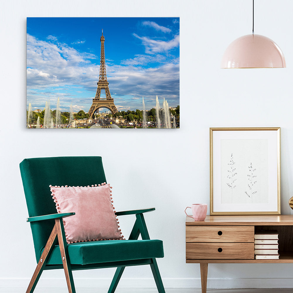 Eiffel Tower Paris Canvas Wall Art
