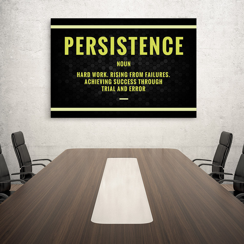 Persistence Canvas Print Motivational Wall Art for your Home or Office. Motivational, inspirational and modern canvas wall art for your Home or Office.