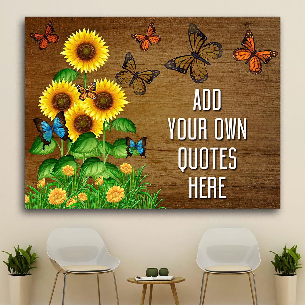 Personalized Gift For Sunflowers And Butterflies Lovers