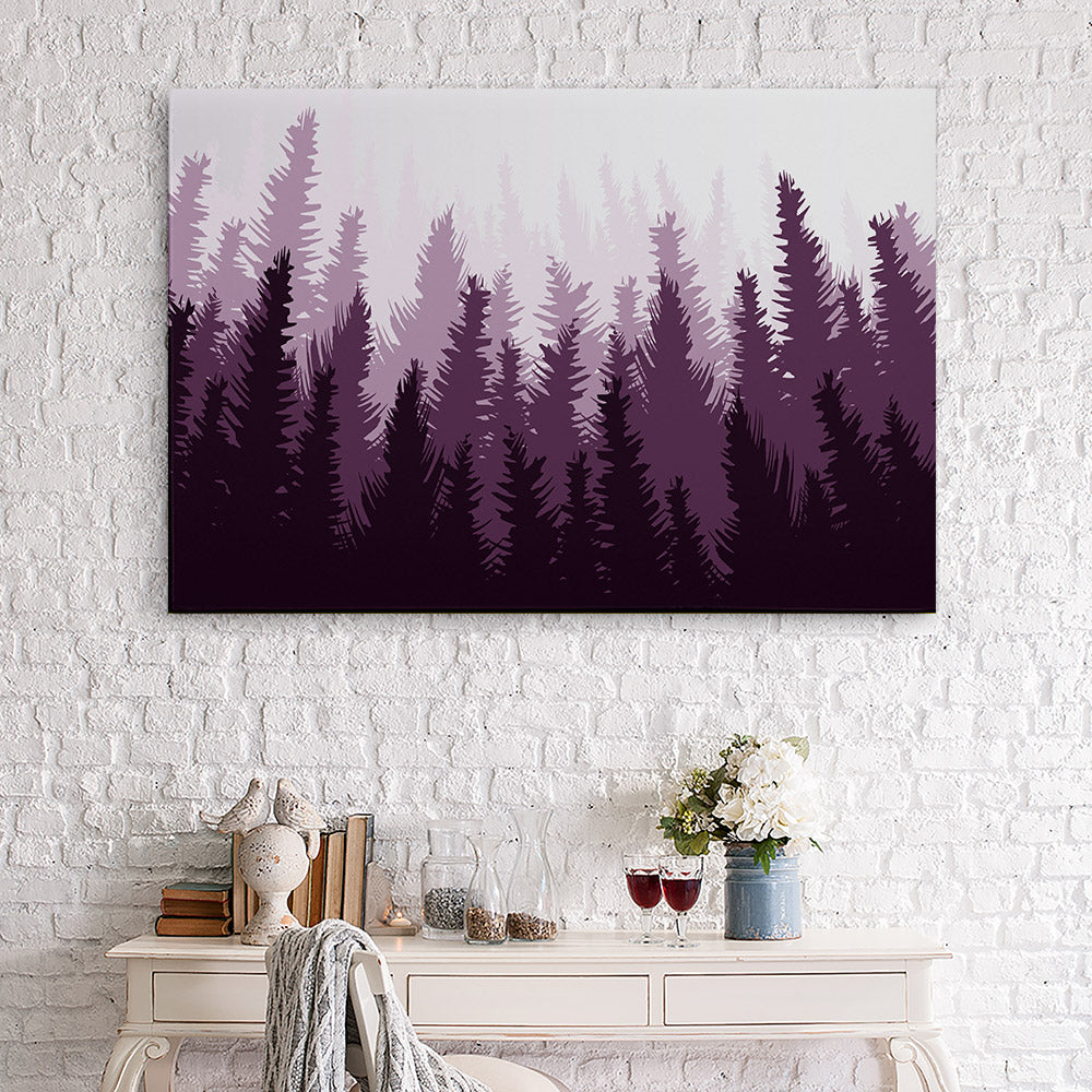 Pine Forest Canvas Wall Art