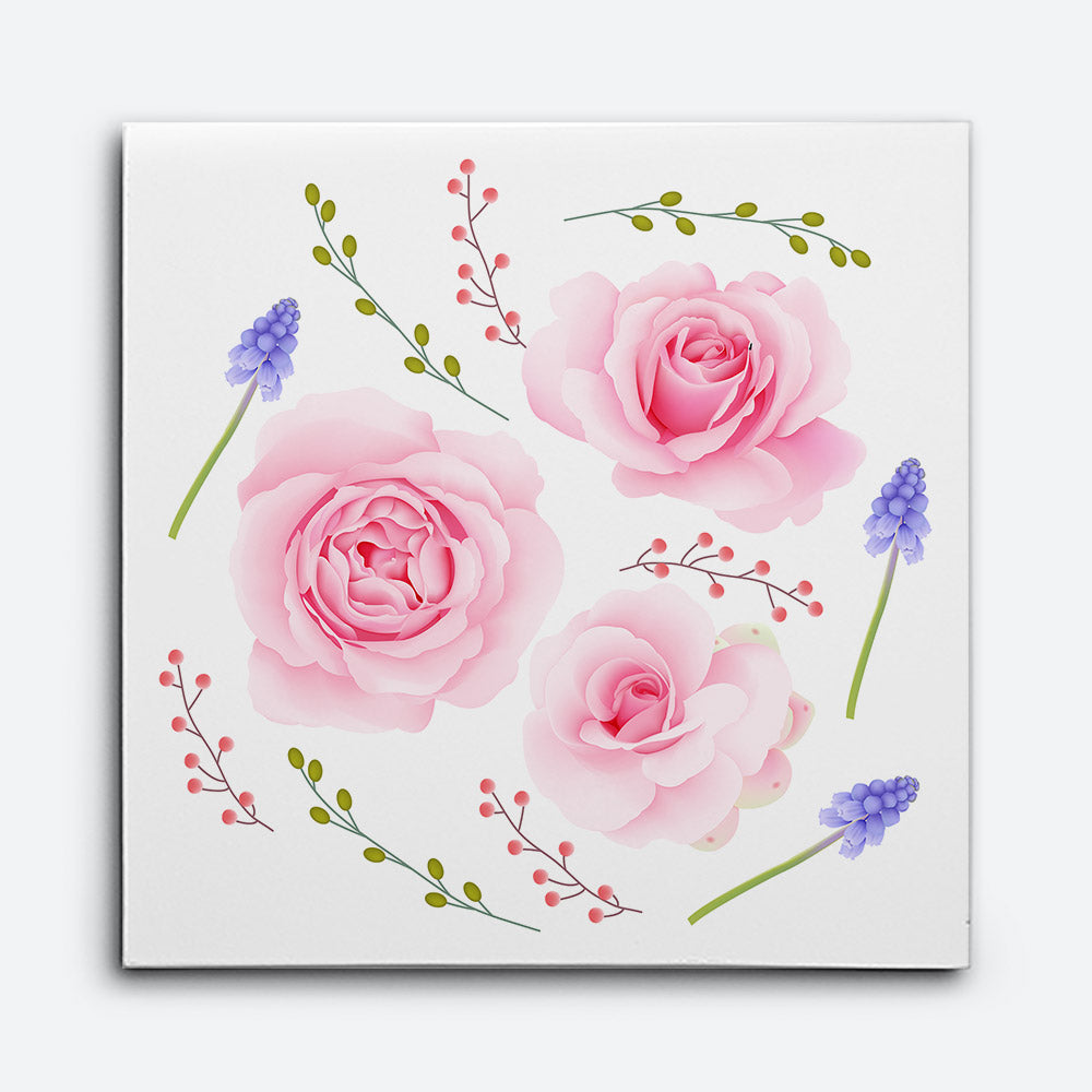 Pink Roses Canvas Wall Art for your Home or Office. Motivational, inspirational and modern canvas wall art for your Home or Office.