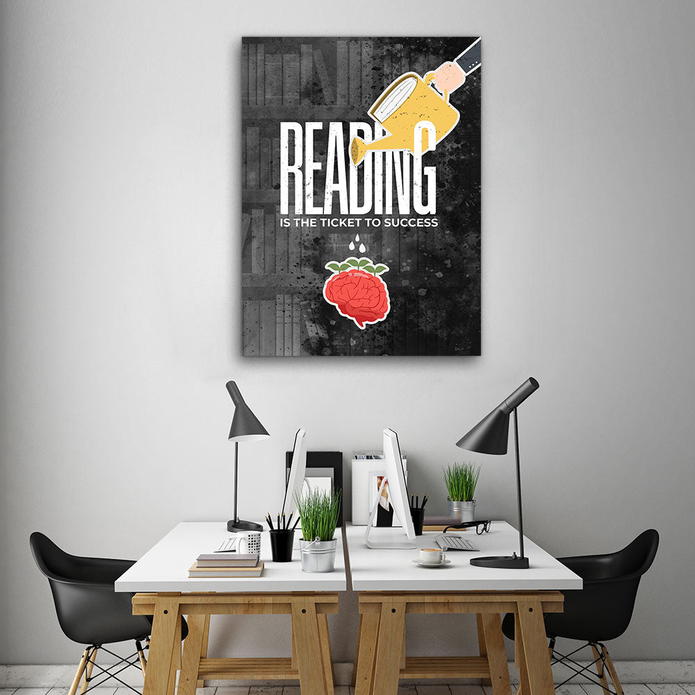 Reading Motivation Motivational Inspirational Canvas Wall Art