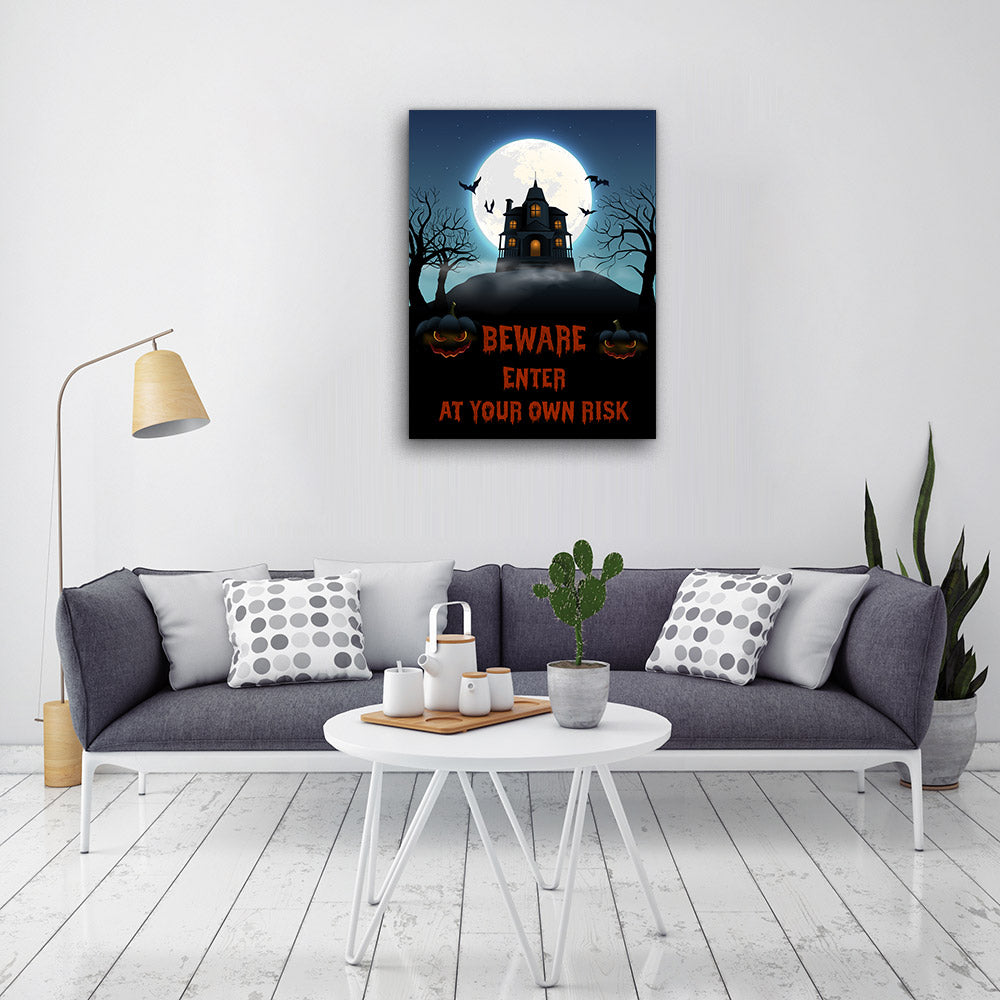 Realistic Halloween Canvas Wall Art