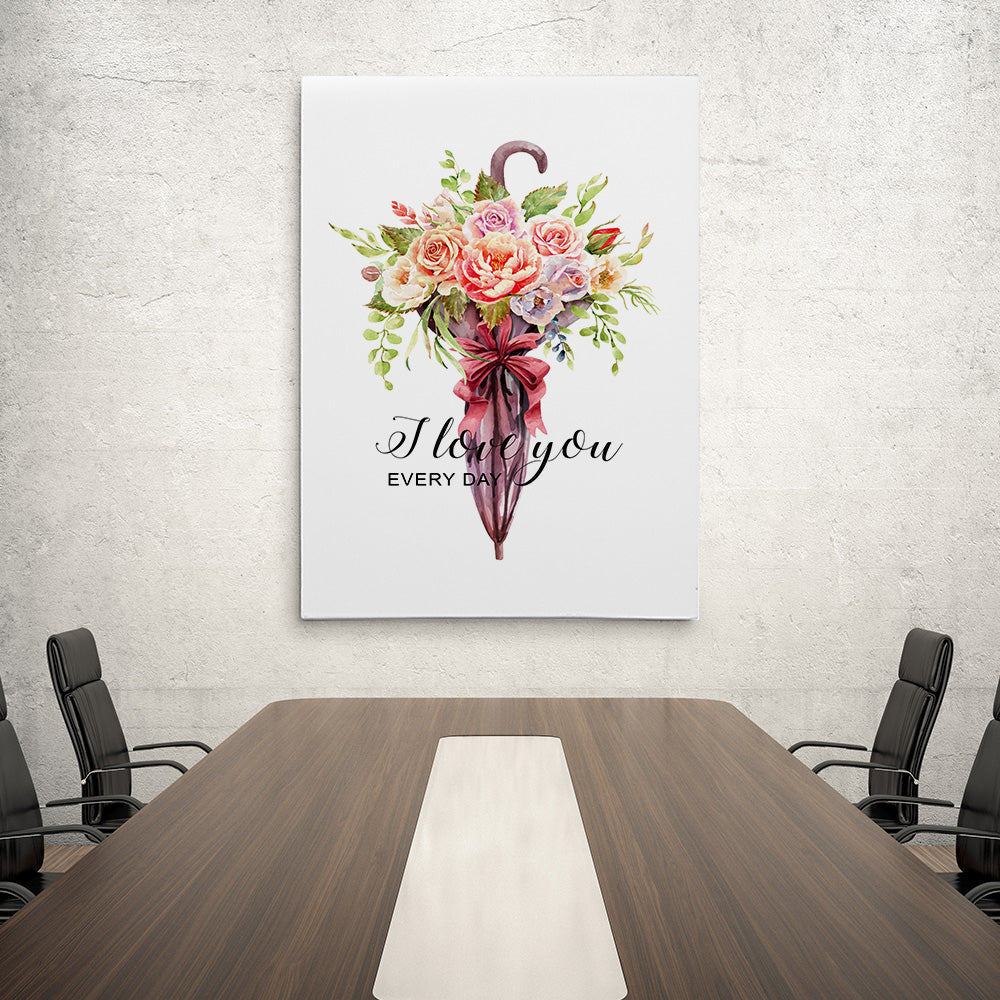 Roses Bouquet Canvas Wall Art