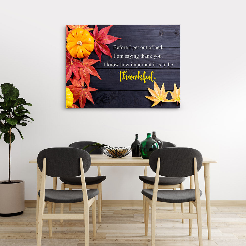 Saying Thank You Quote Canvas Wall Art