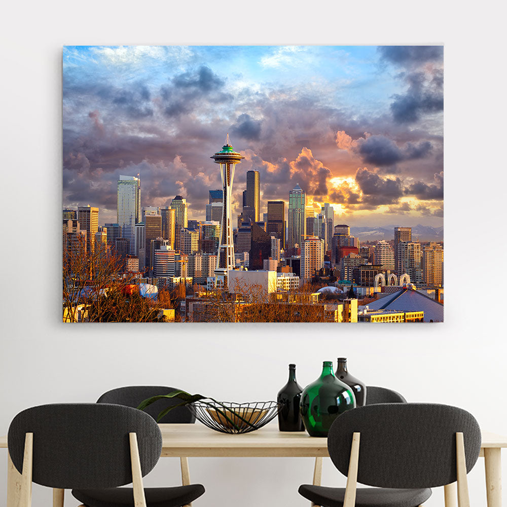 Seattle Skyline Canvas Wall Art