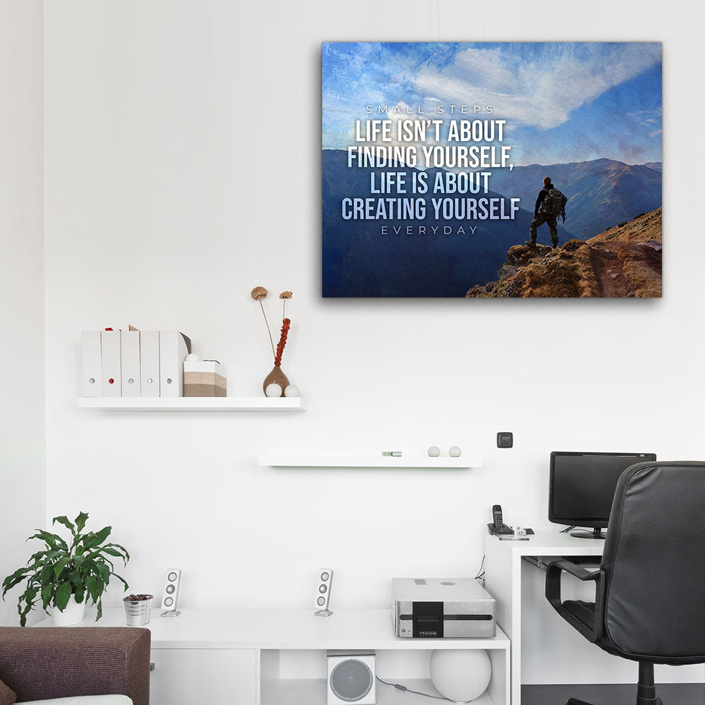 Self Made Man Motivational Inspirational Canvas Wall Art