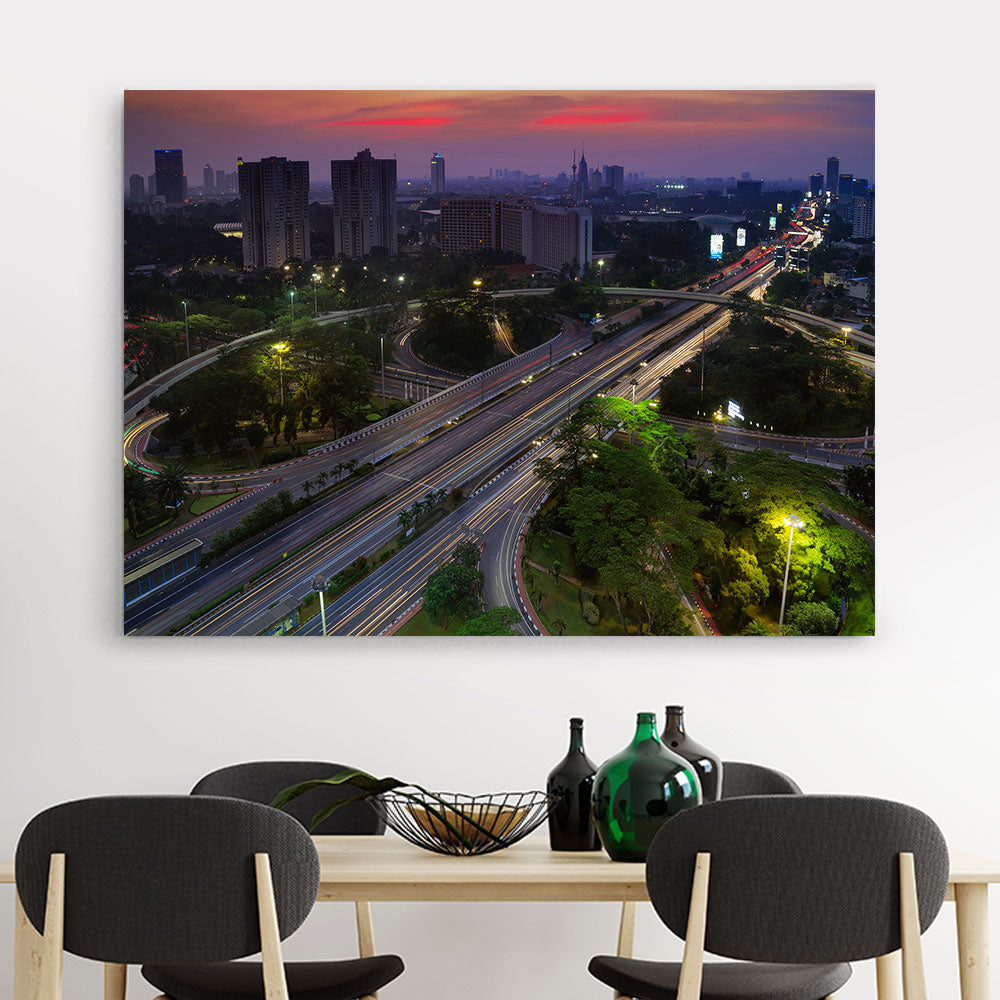 Semanggi Highway Junction Canvas Wall Art