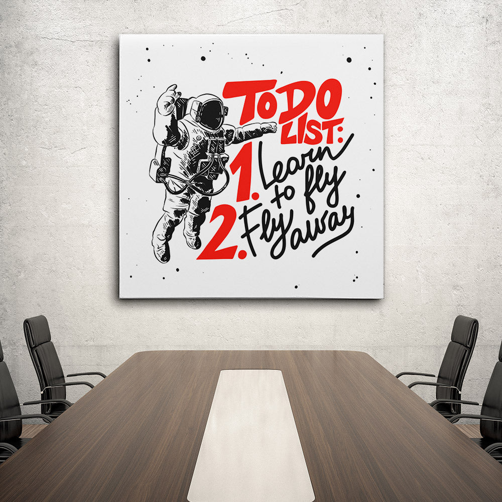 Sketch Astronaut Canvas Wall Art for your Home or Office. Motivational, inspirational and modern canvas wall art for your Home or Office.
