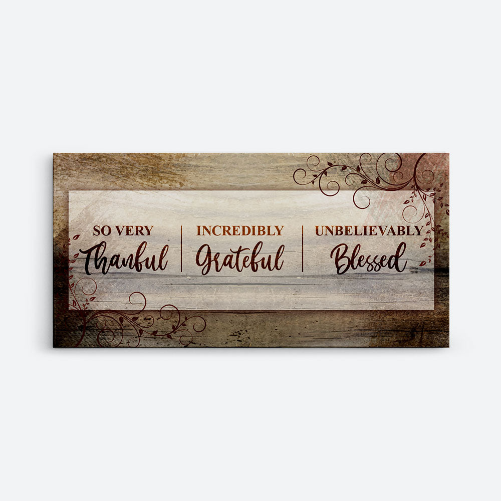 Thankful Grateful Blessed Christian Wall Art