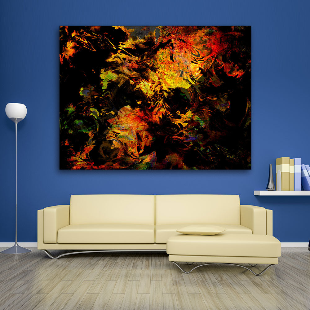 Spots Painting Abstract Canvas Wall Art