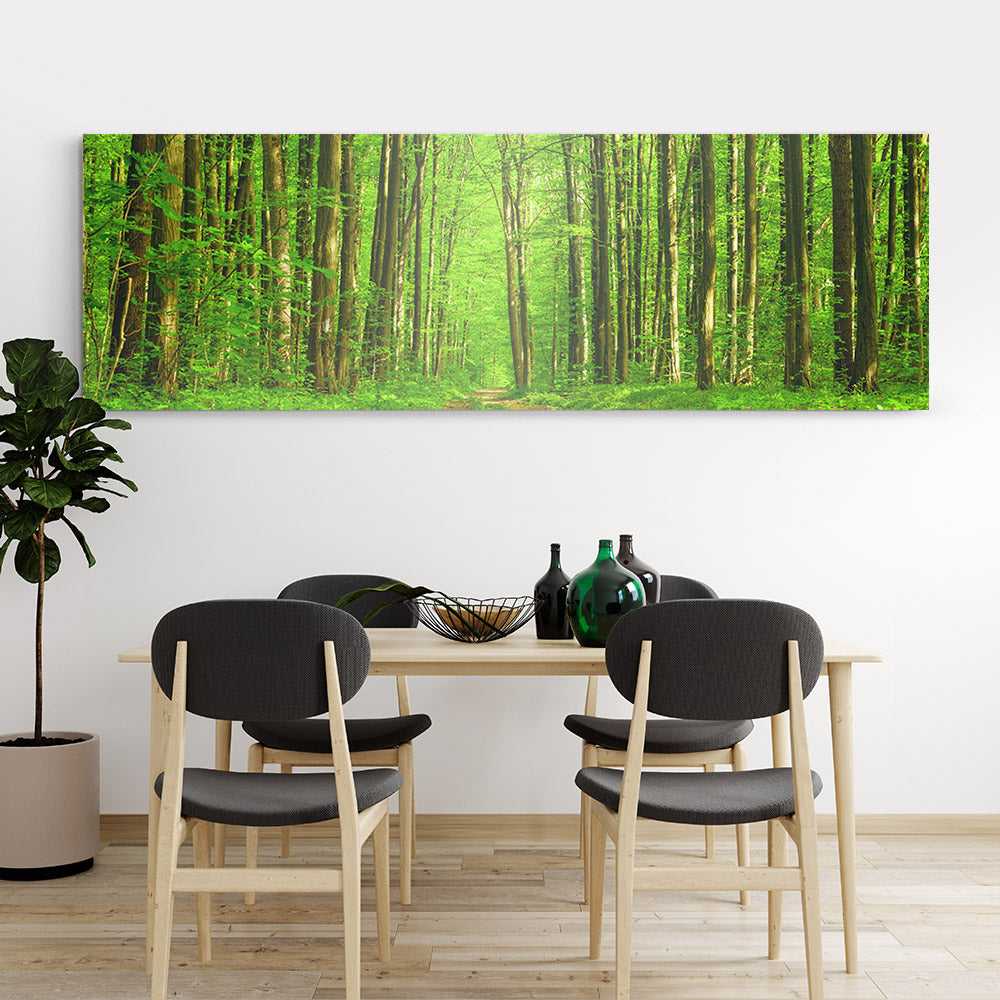 Spring Forest Trees Canvas Wall Art