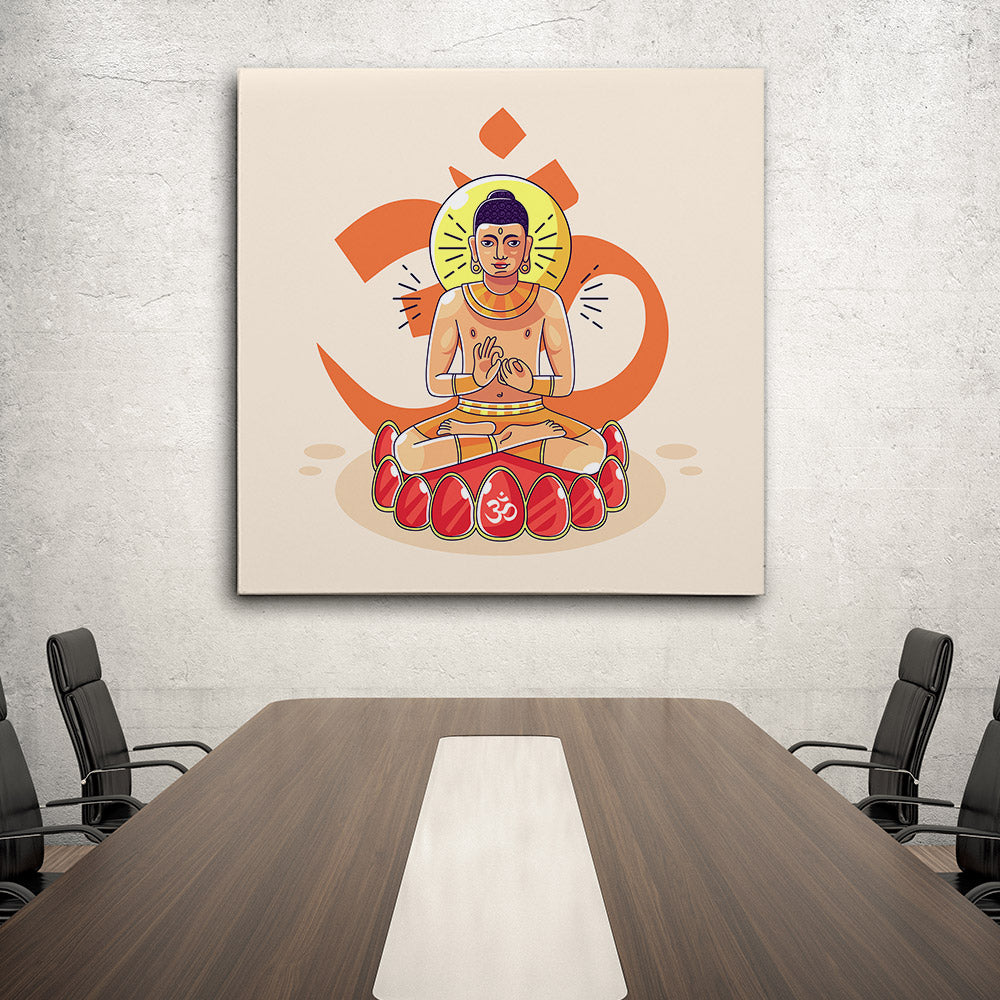 Statue Buddha Canvas Wall Art