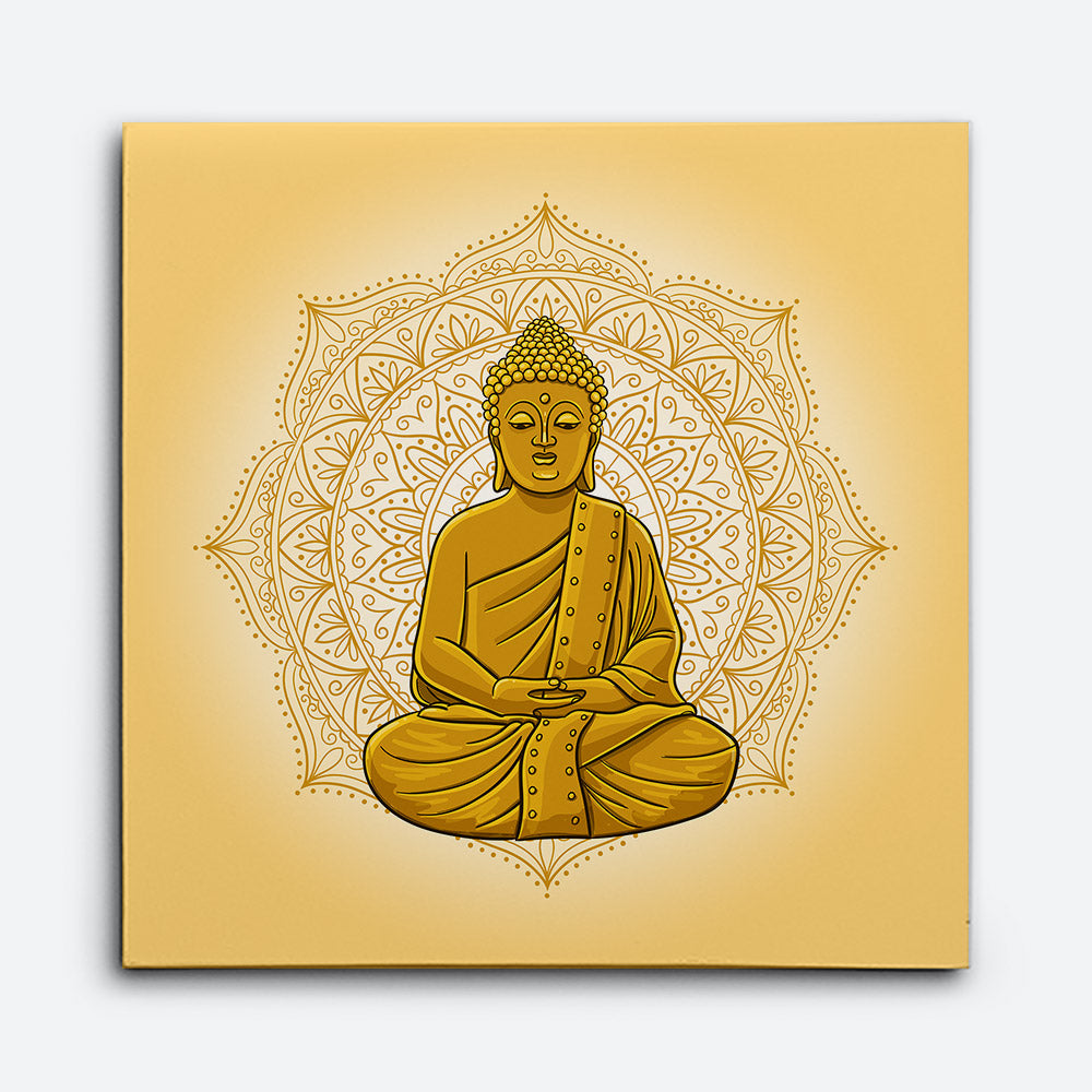 Statue of Buddha Canvas Wall Art
