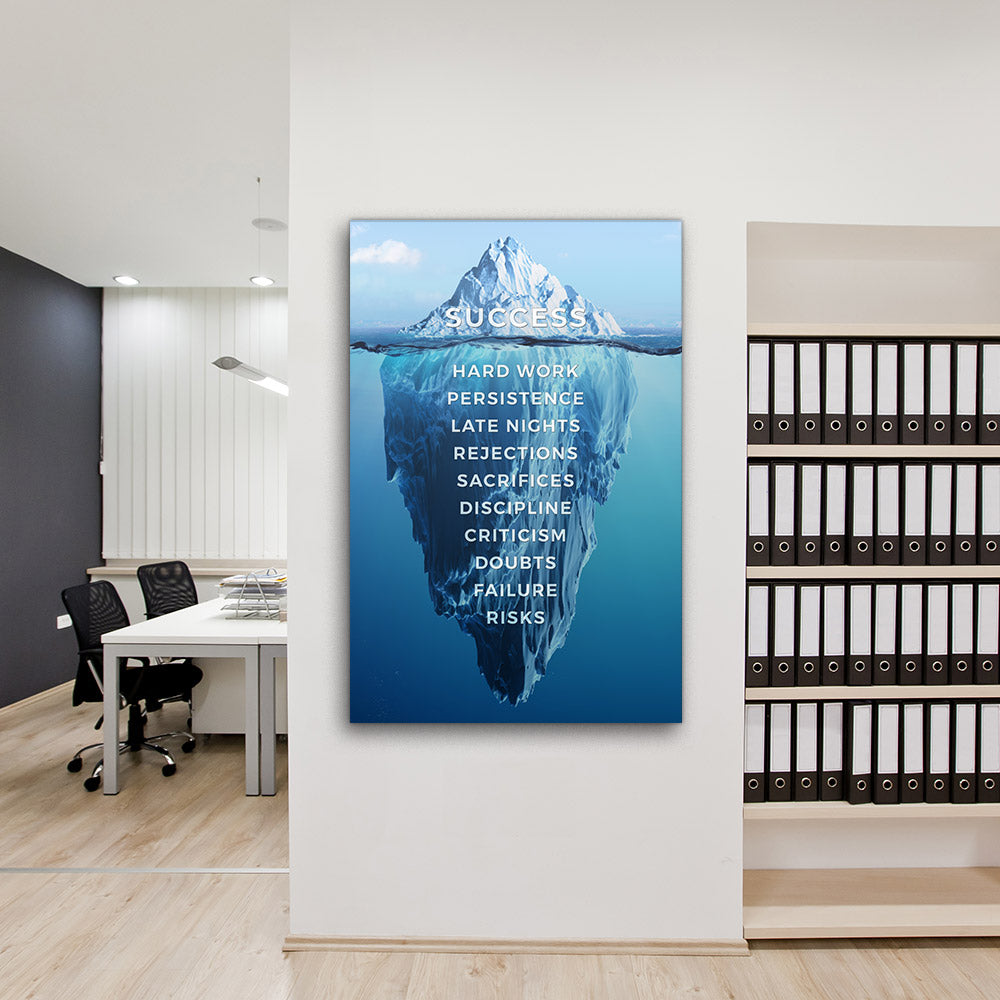 Success Iceberg Canvas Wall Art