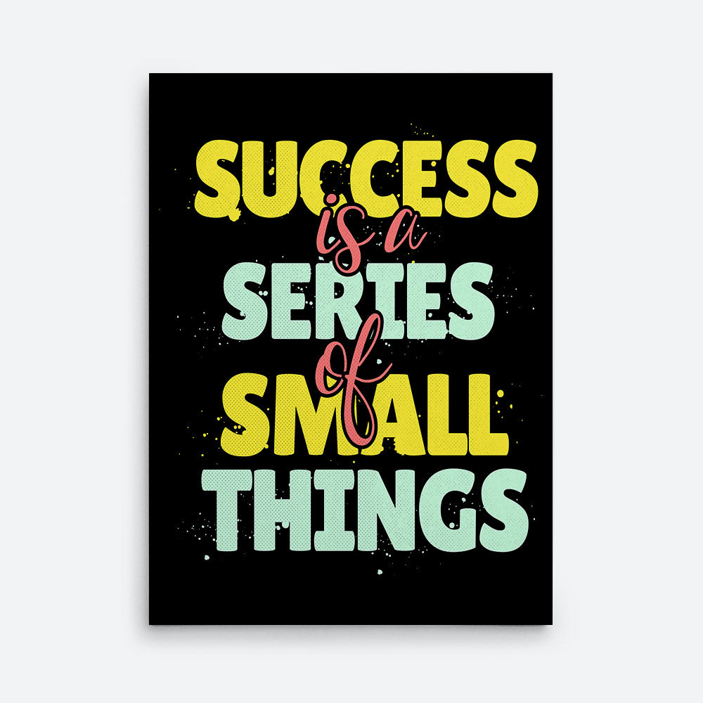 Success Is Series Small Things Canvas Wall Art