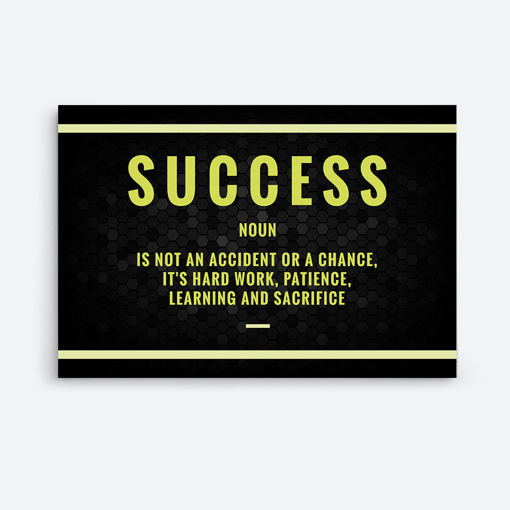 Success Noun Canvas Wall Art for your Home or Office. Motivational, inspirational and modern canvas wall art for your Home or Office.