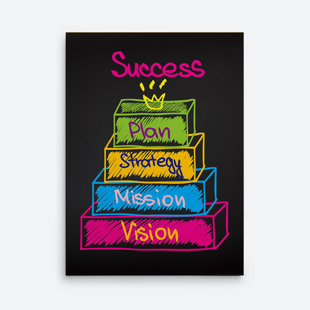 Success, Plan, Strategy, Mission, Vision Canvas Wall Art