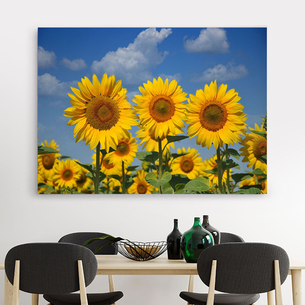 Sunflower Flower Canvas Wall Art