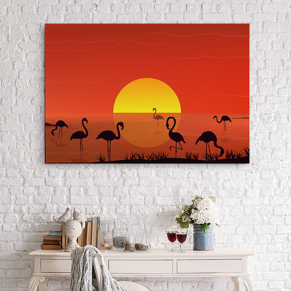 Sunset Landscape Canvas Wall Art