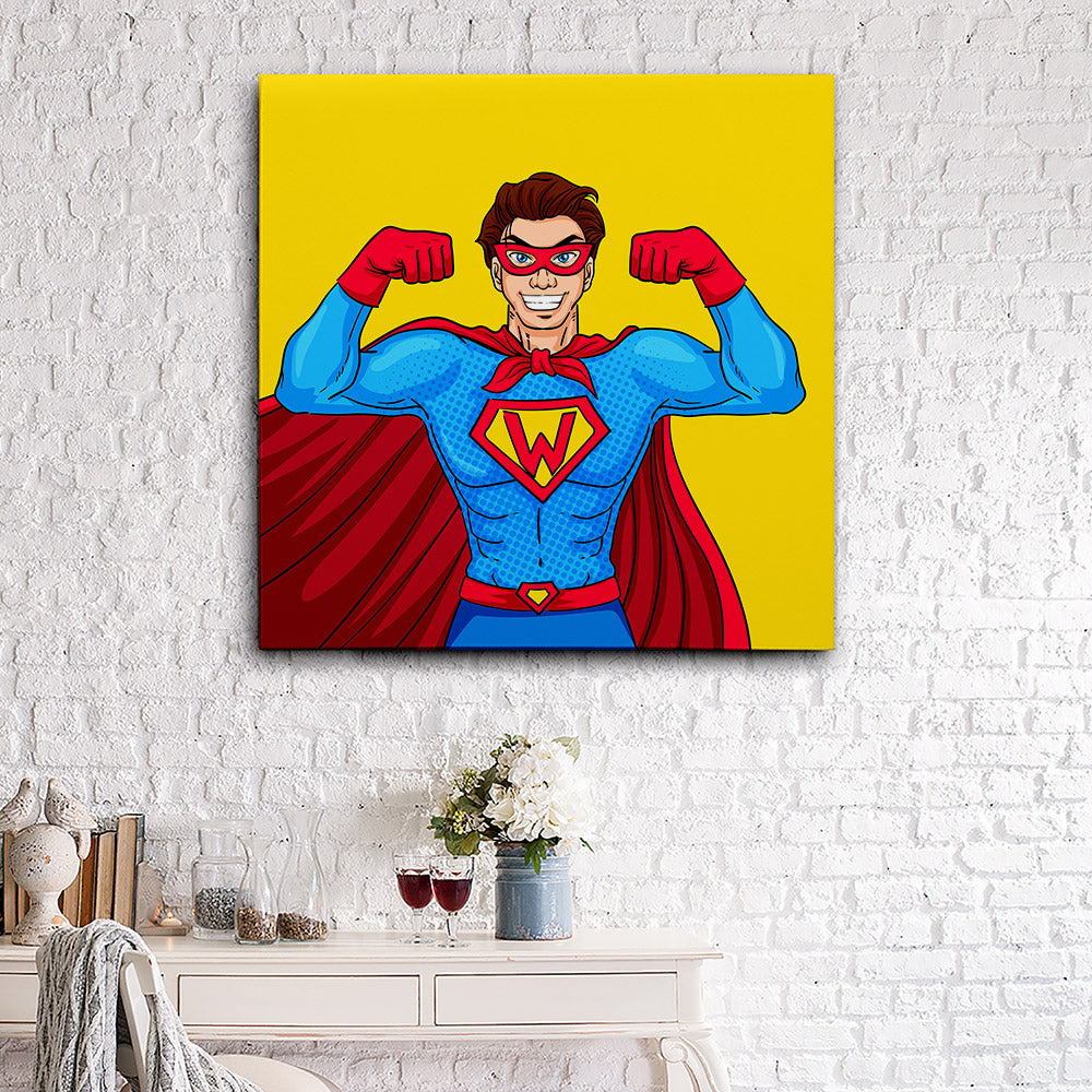Superhero Canvas Wall Art