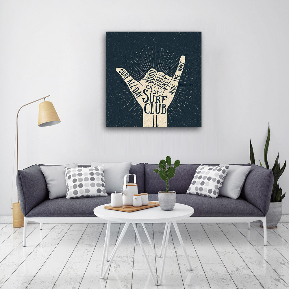 Hand Gesture Silhouette Canvas Wall Art for your Home or Office. Motivational, inspirational and modern canvas wall art for your Home or Office.