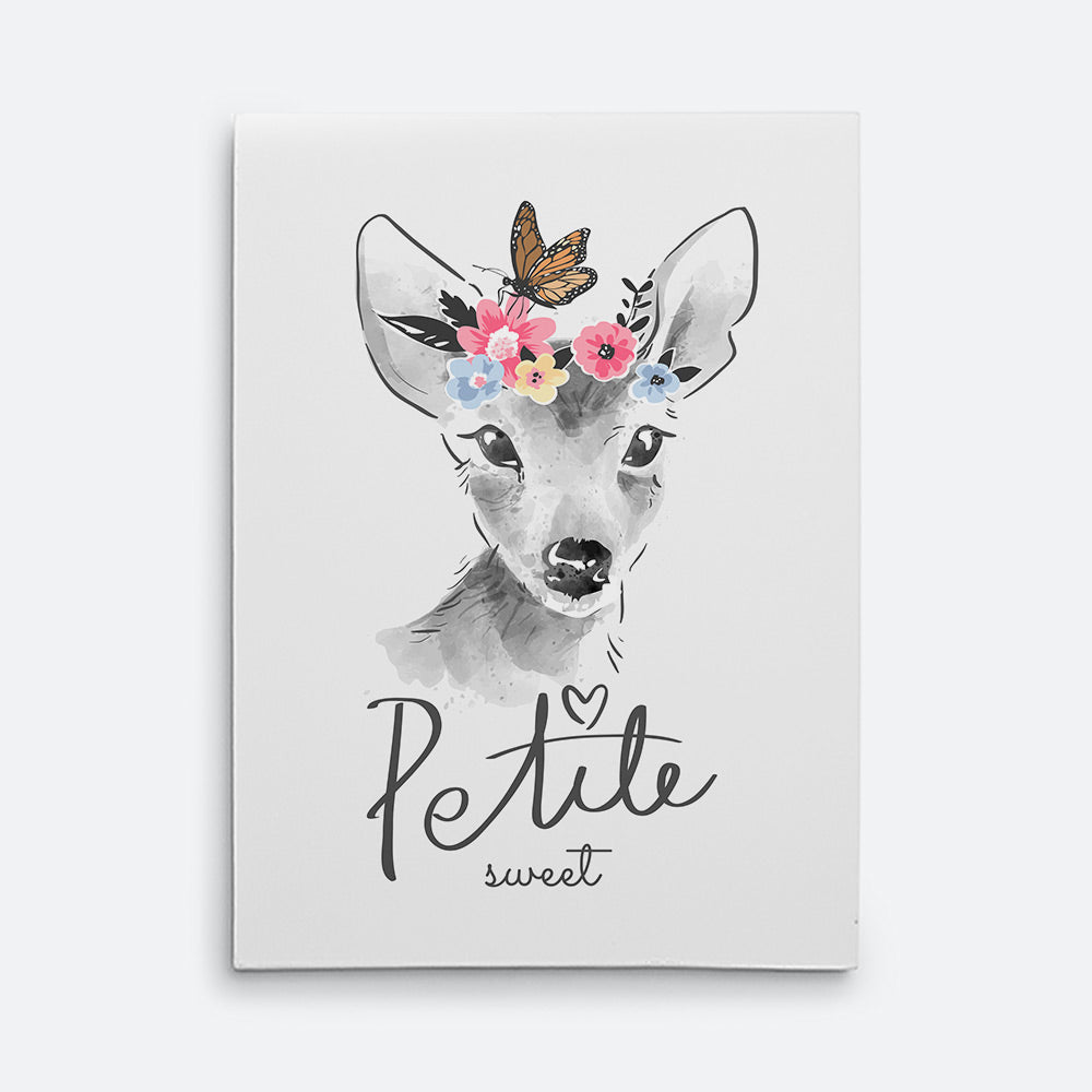 Sweet Deer Canvas Wall Art for your Home or Office. Motivational, inspirational and modern canvas wall art for your Home or Office.