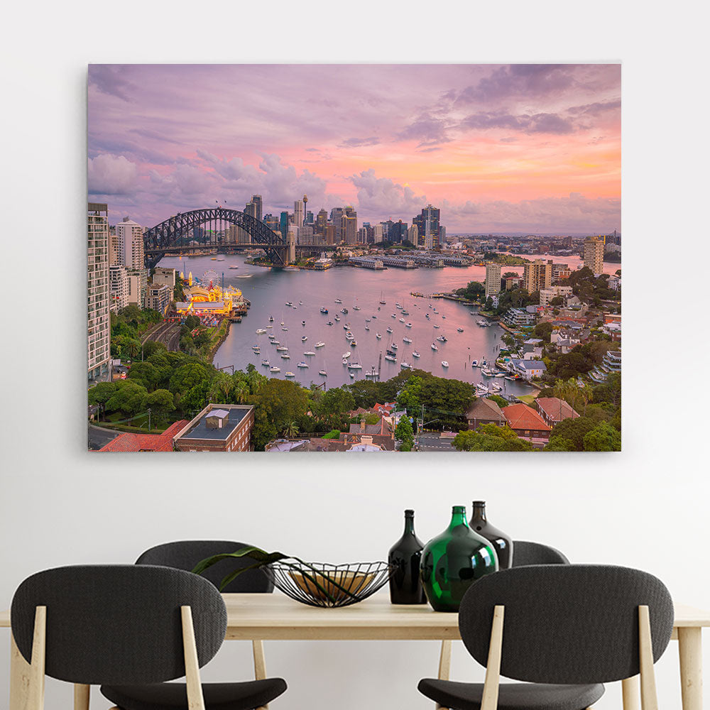 Sydney Skyline Australia Canvas Wall Art