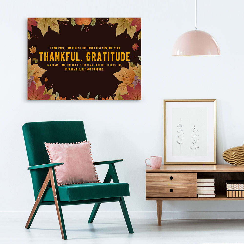 Thankful and Gratitude Quote Canvas Wall Art
