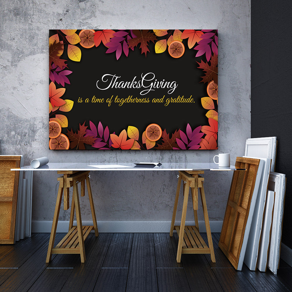 Thanksgiving Canvas Wall Art