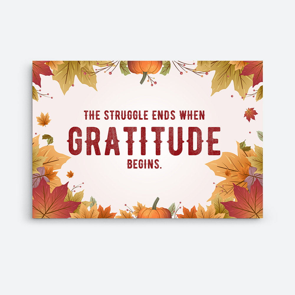 Be Thankful for Everything Canvas Wall Art