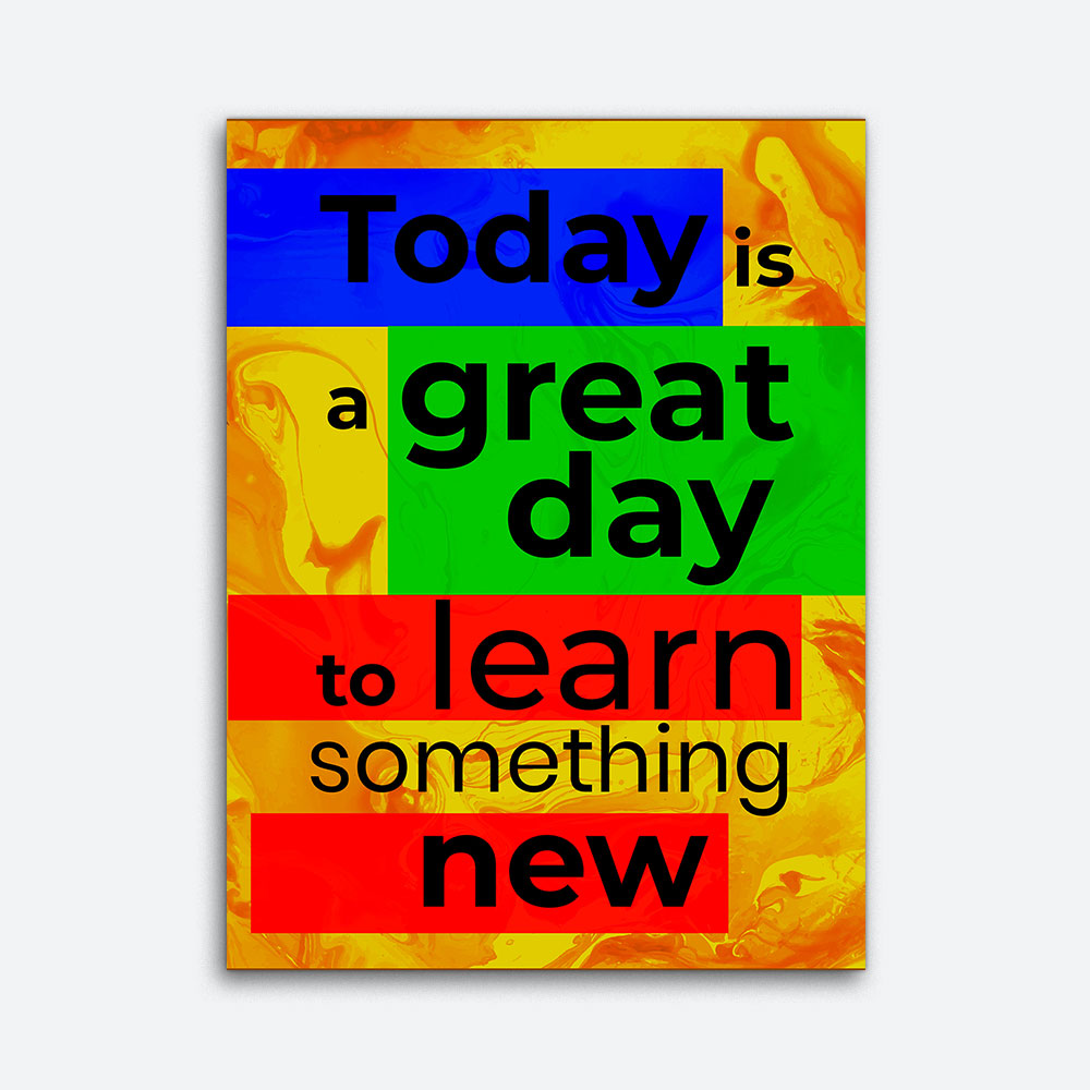Today Is A Great Day Motivational Inspirational Canvas Wall Art