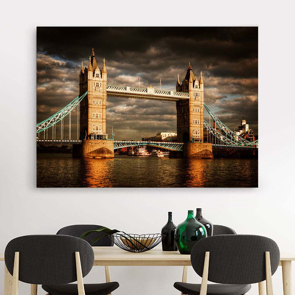 Tower Bridge London Canvas Wall Art v2