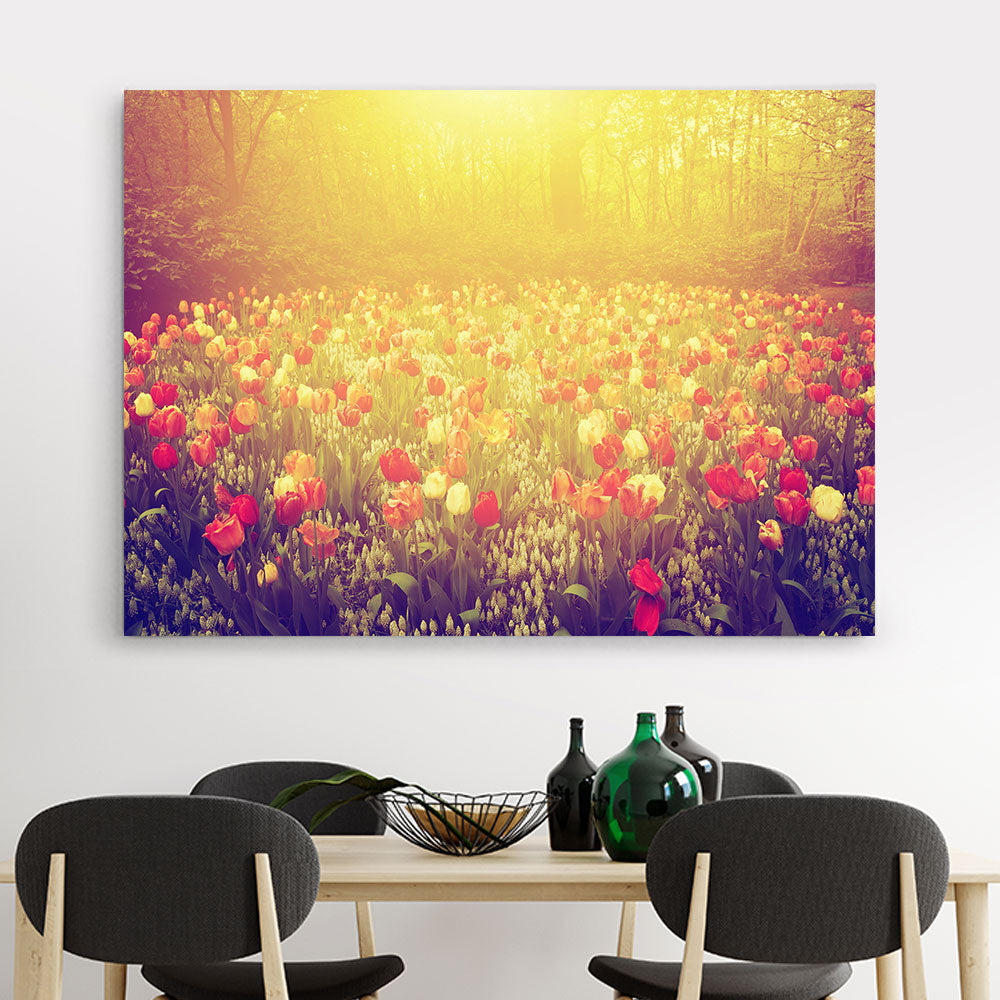 Tulip Flowers Canvas Wall Art