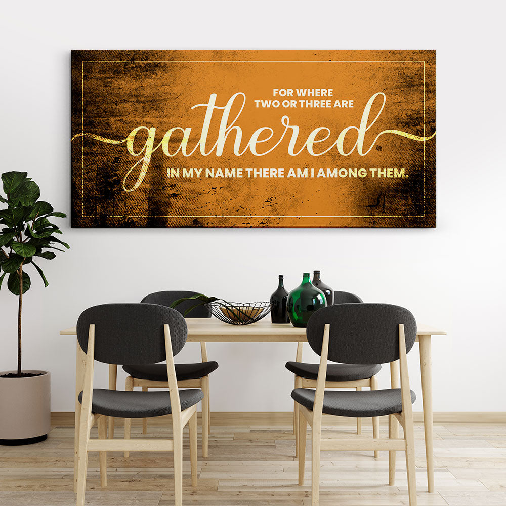 Two or Three Gather Christian Wall Art