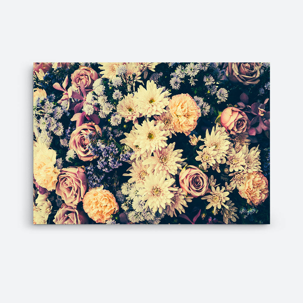 Vintage Flower Canvas Wall Art