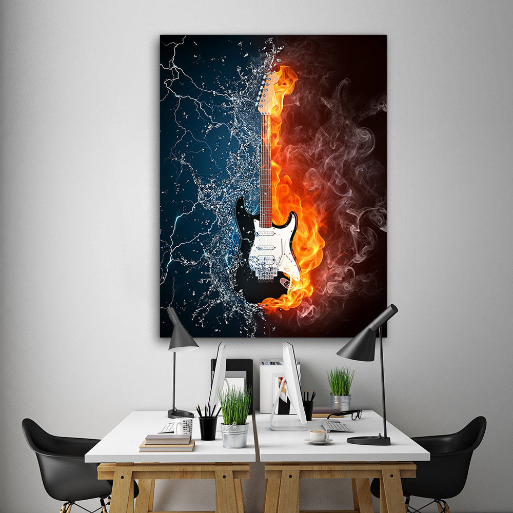 Violin Abstract Canvas Wall Art v2