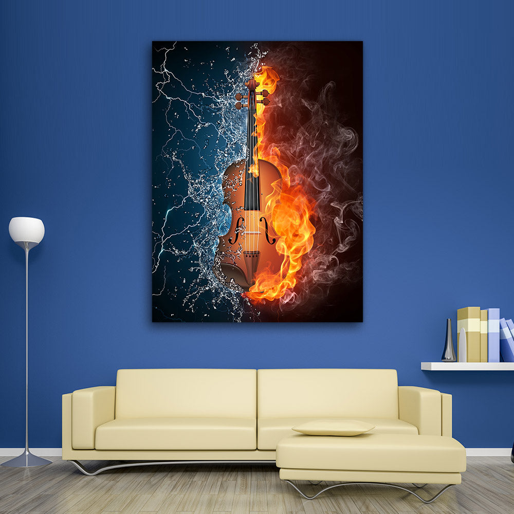 Violin Abstract Canvas Wall Art