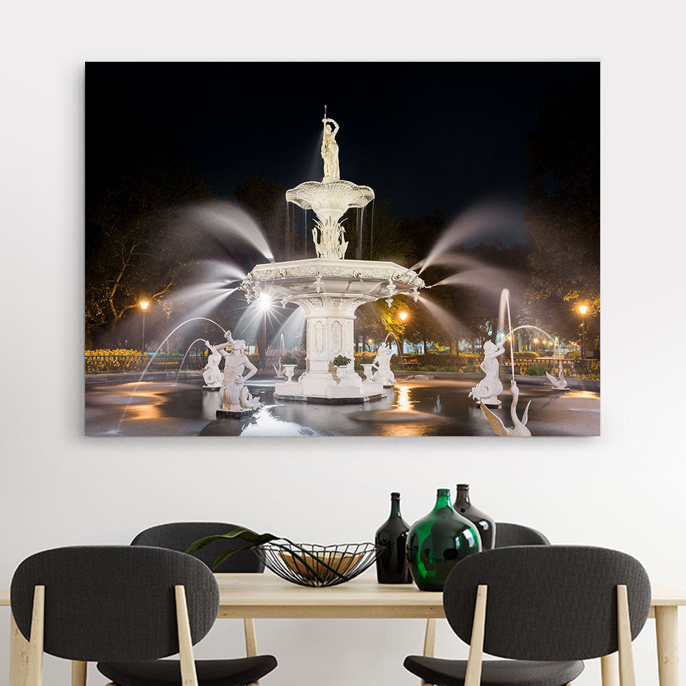 Water Fountain Canvas Wall Art