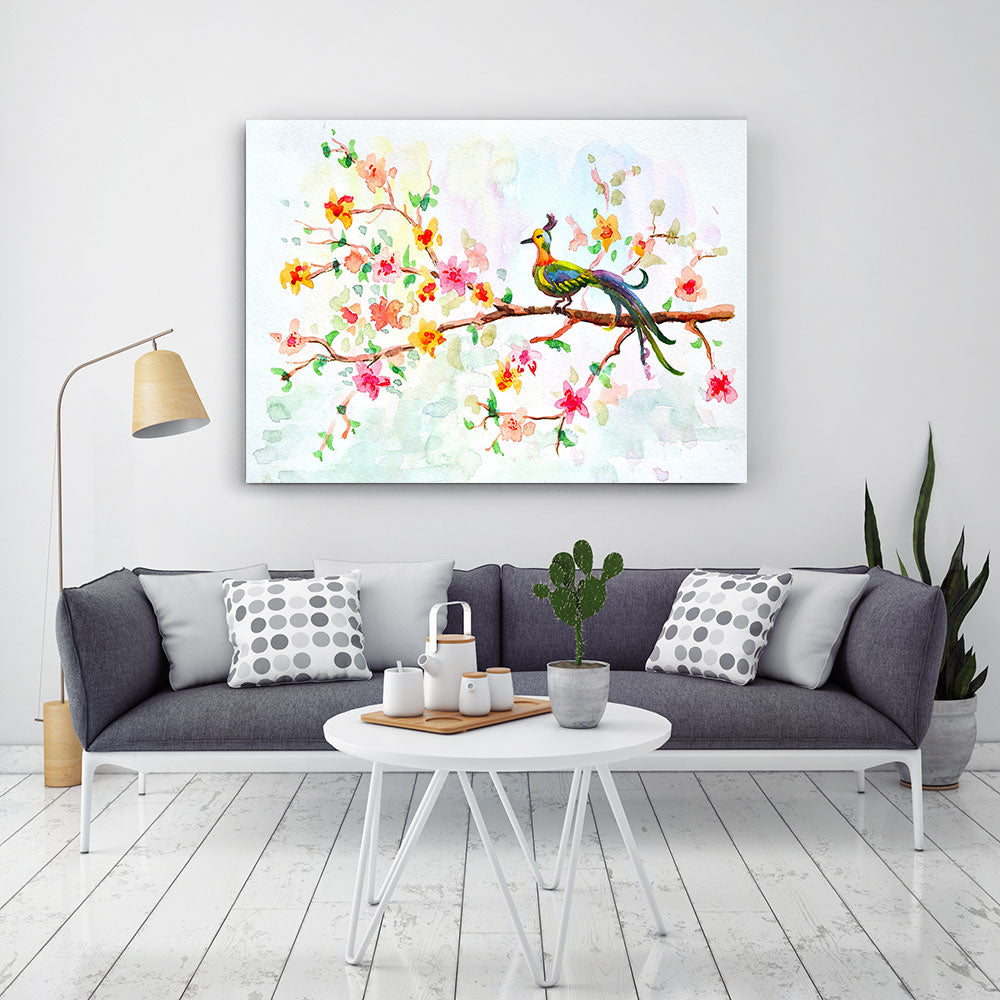 Watercolor Flower Canvas Wall Art v2