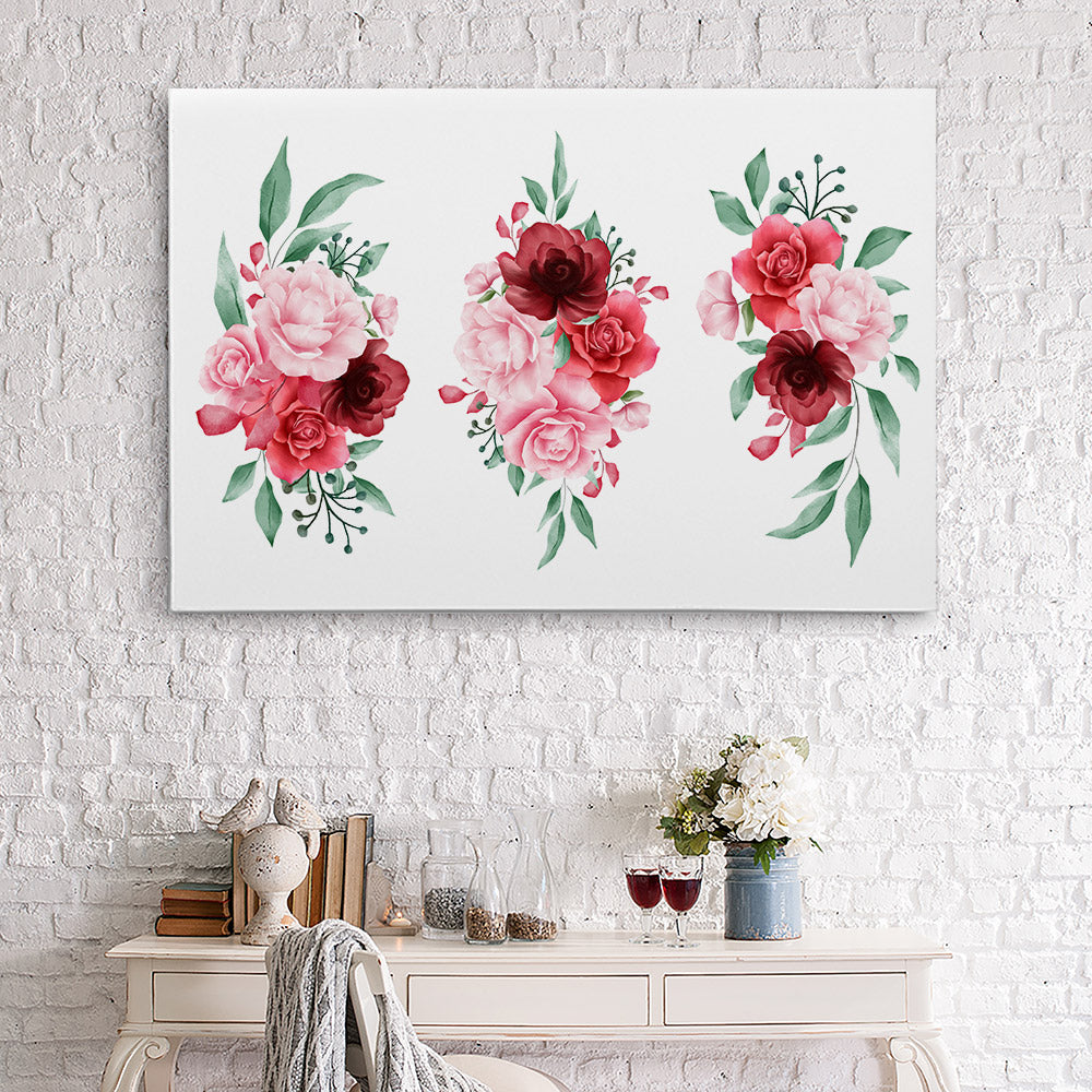 Watercolor Flowers Canvas Wall Art