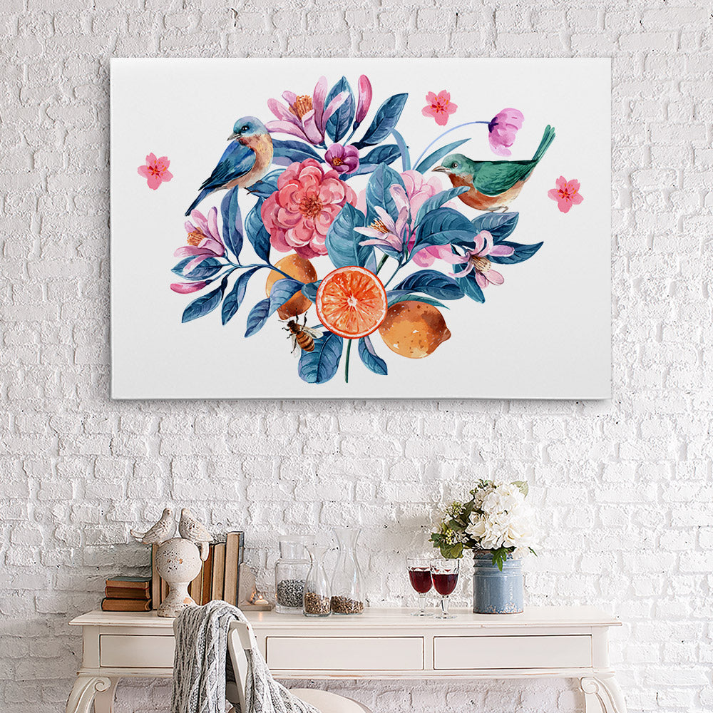 Watercolor Flower Canvas Wall Art for your Home or Office. Motivational, inspirational and modern canvas wall art for your Home or Office.