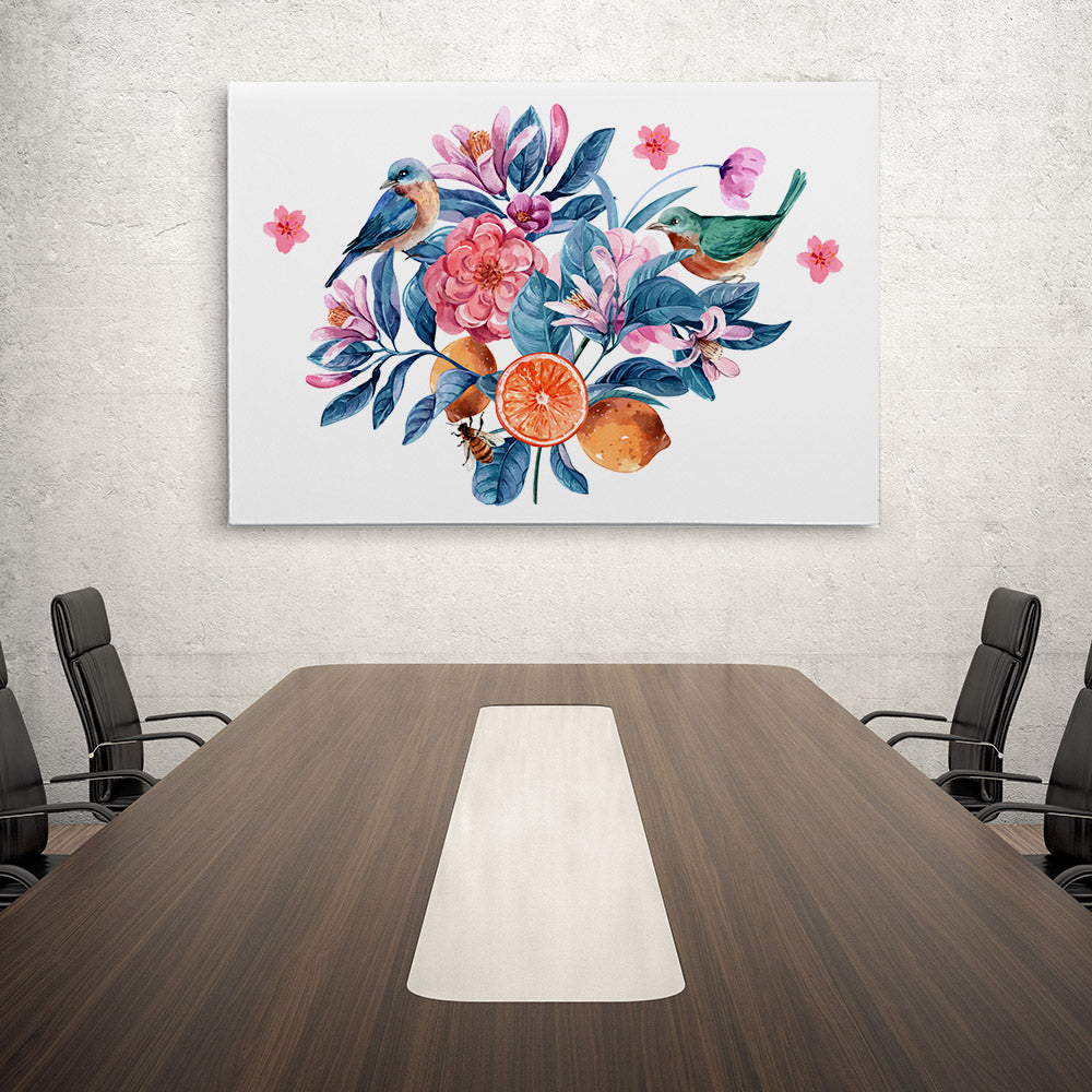 Watercolor Flower Canvas Wall Art