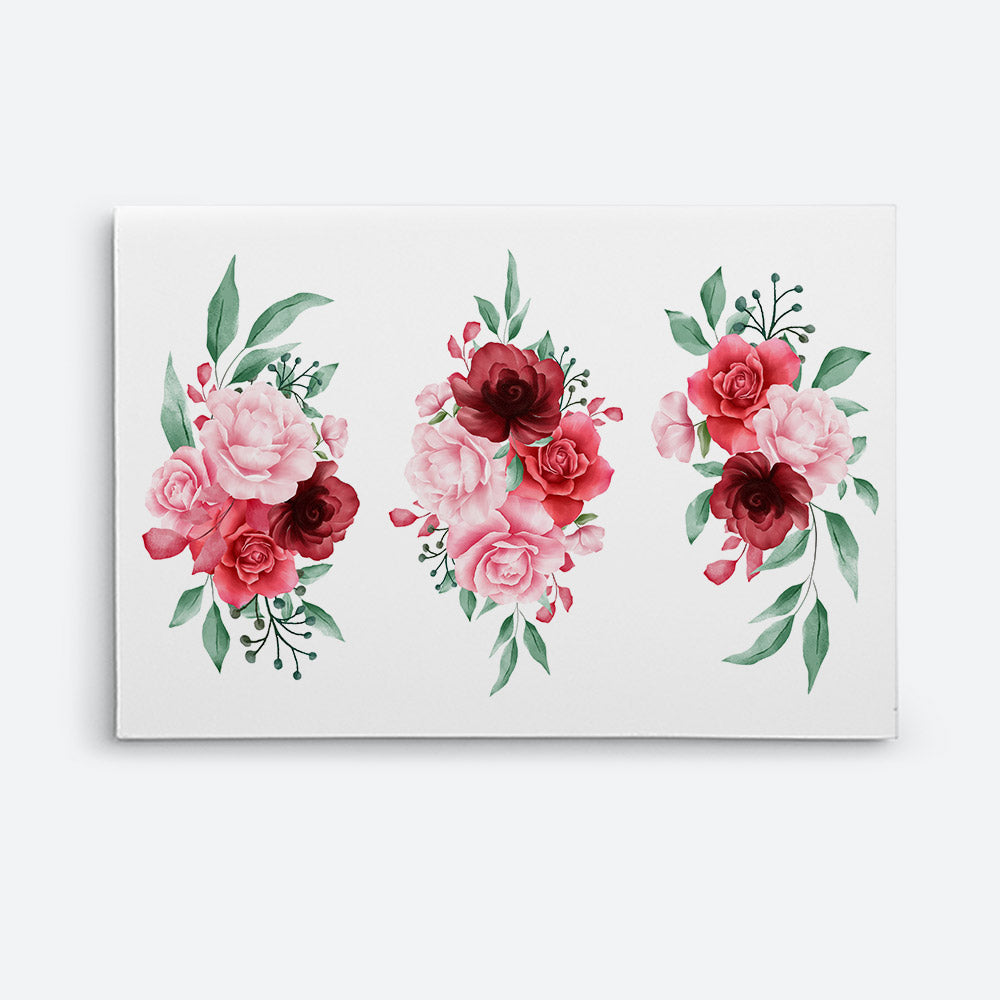 Watercolor Flowers Canvas Wall Art for your Home or Office. Motivational, inspirational and modern canvas wall art for your Home or Office.