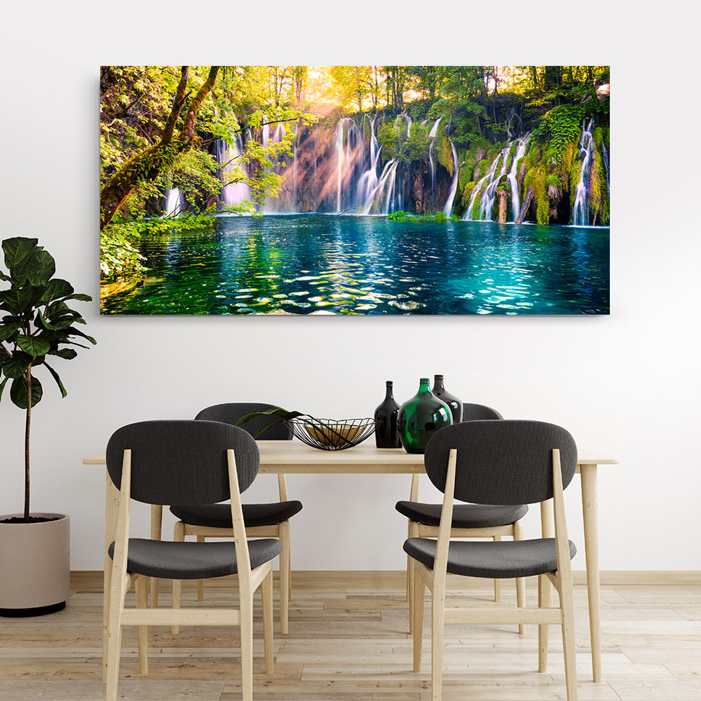 Waterfall Plitvice National Park Canvas Wall Art