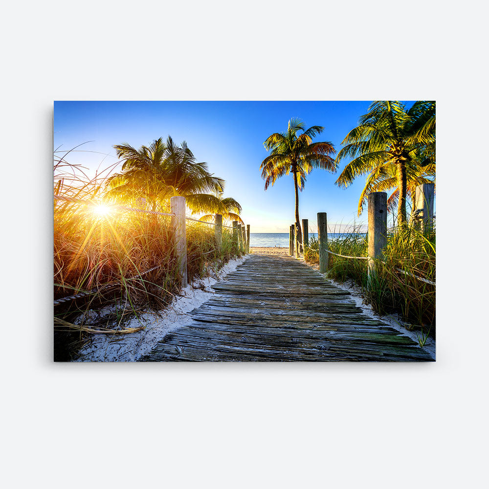 Way To The Beach Canvas Wall Art