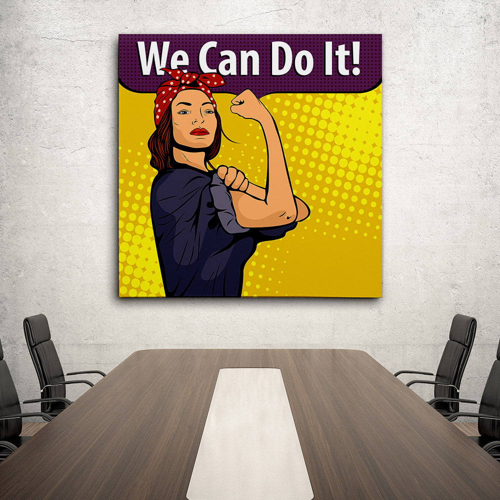 We Can Do It Canvas Wall Art